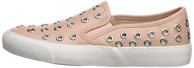 Qupid Womens Oval-01 Leather Low Top Slip On Fashion Sneakers