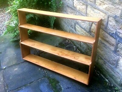 Mid century shelving unit - vintage bookshelves - wall - retro - kitchen shelf