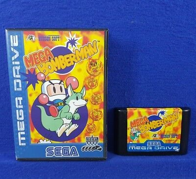*Sega Mega Drive MEGA BOMBERMAN (NI) Battle Game Rare Boxed PAL