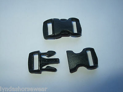 10mm Safety Breakaway Cat Collar Buckles x 10, Curved Side Release Kitty Klip