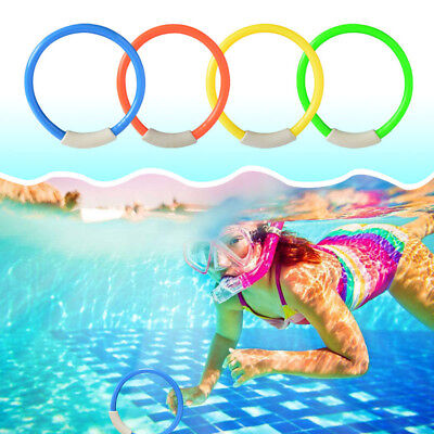 4PCS CHILDREN UNDERWATER Diving Rings Kids Water Toys Swimming Pool  Accessories
