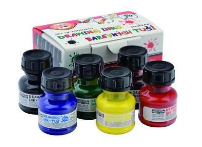 Koh-I-Noor Technical Assorted Colour Drawing Inks Set 6 x 20g