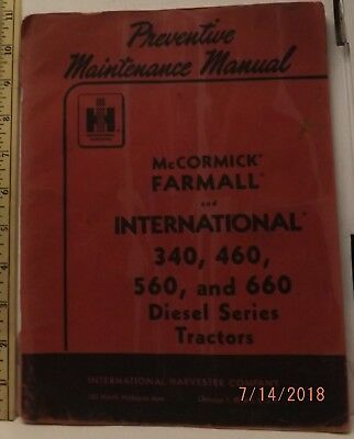 Ih farmall mccormick international 340 460 560 specifications manual mccormick farmall 340 460 560 660 diesel tractor prevent mainenance manual good fandeluxe Choice Image