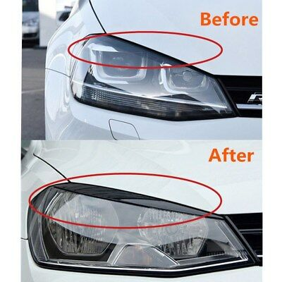 Pair of Durable Headlights Eyebrow Eyelids ABS Cover for Volkswagen Golf 7 MK7