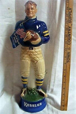 "1960 Kessler ""The Football Player"" Decanter Bottle No Reserve"