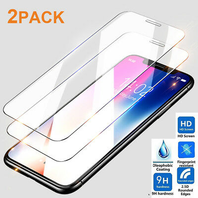 3Pack 9H Tempered Glass Screen Protector for iPhone XS Max 6.5/XR 6.1 Film Guard