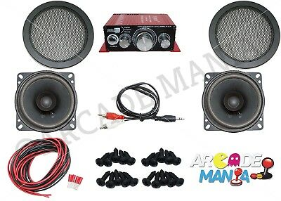 Audio Amplifier and Speaker Set, Ideal for Arcade Projects