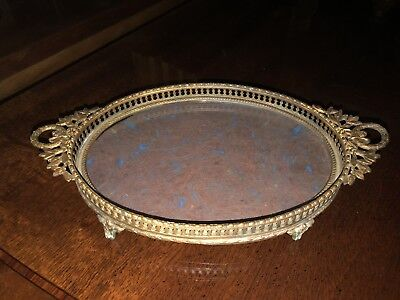 Antique Oval French Neoclassical Oval Tray