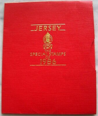 Jersey 1986 - The Special Stamps of 1986 - komplettes Jahrbuch im Folder