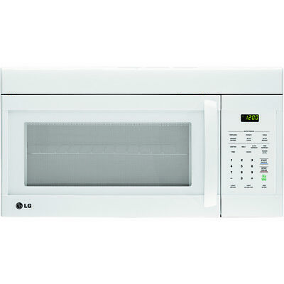 LG 1.6 Cu. Ft. 1000 Watts Over-the-Range Non-Sensor Microwave Oven in White
