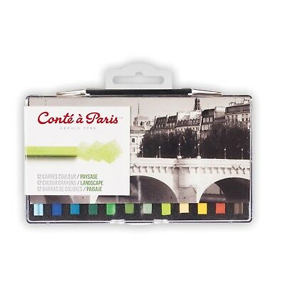 Conte a Paris Artists Colour Pastel Crayons Set of 12 Landscape Colours