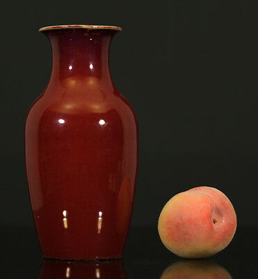 A BEAUTIFUL antique CHINESE PORCELAIN OXBLOOD FLAMBE VASE 19TH CENTURY
