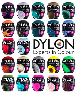 22 Colours Dylon Fabric & Clothes Fabric Machine Dye Pods 350g or 50g Sachet New