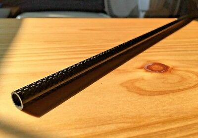 "1PC Carbon Fiber Tube 8mm x 10mm x 500mm (.31"" x .39"" x 19.68"") GLOSS 3k wrapped"