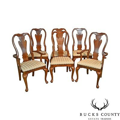 Thomasville Traditional Queen Anne Set / 6 Cherry Dining Chairs (Winston Court)
