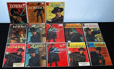 Dell Four Color Gold Key Zorro Lot /14 #425 617 920 933 10 11+ Vg To Fn L7 Toth