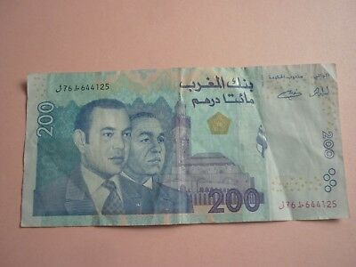 Morocco - 2002 (Ah1423) Issue 200 Dirhams Note - P71 - Vf