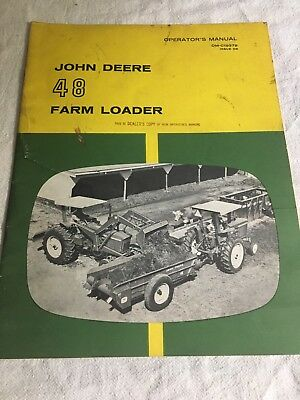 John Deere 48 Farm Loader operators manual