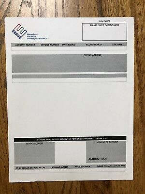Enron Authentic Blank Invoice. Impress Your Friends!