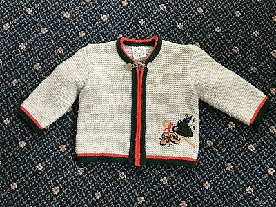 German Trachten Sweater Size 30 (german Size) 4 - 6 Year Old Boy Or Girl