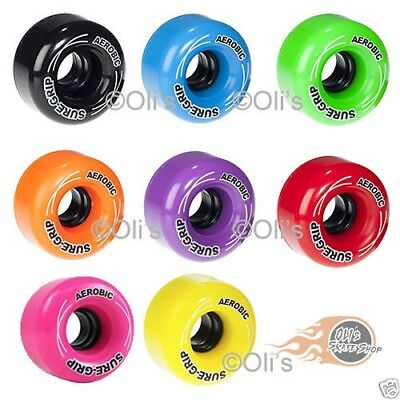 Sure-Grip Aerobic 85A Quad Roller Skate Wheels Outdoor 62mm