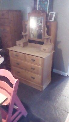 antique pine chest of drawers/dressing table