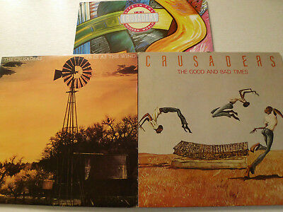 3x THE CRUSADERS -Free as the wind &...- Jazz/Soul-LPs!!!1977-88