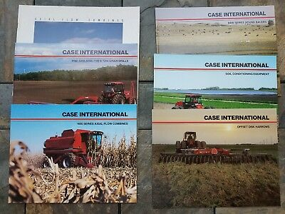 Case International Ih Vintage Brochure Combine Tractor Drills Disc Baler