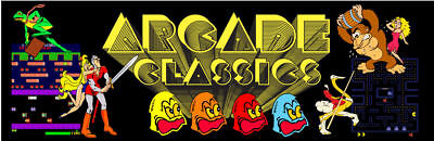Mame Arcade Classics Multicade Marquee For Reproduction Header/Backlit Sign