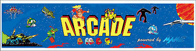 Mame Arcade Marquee For Reproduction Header/Backlit Sign
