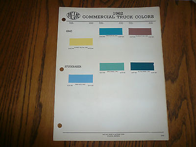 1962 Commercial Truck ZAC-LAC Color Chip Paint Sample GMC Chevy Dodge Ford REO
