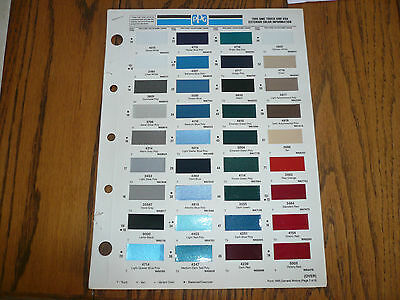 1995 GMC Truck & Van Ditzler Color Chip Paint Samples