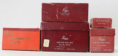 Lot of 5 Leica Vintage Red Boxes