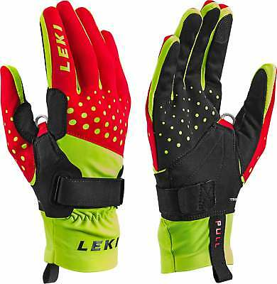 Leki Nordic Race Shark - red yellow black -  Langlauf Handschuhe mit Trigger S
