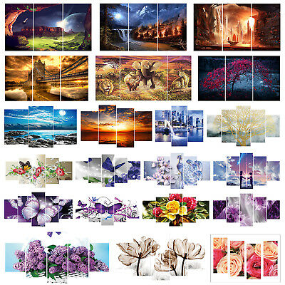5D DIY Full Drill Diamond Painting 5-pictures Combination Craft Cross Stitch Kit