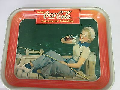Authentic Coke Coca Cola 1940  Advertising Serving  Tray  321-K