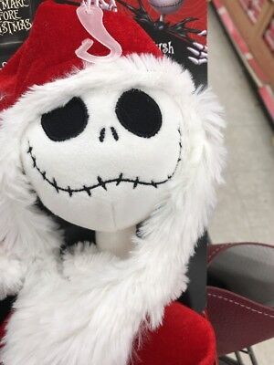 "Nightmare Before Christmas 26"" Jack Skellington ""Sandy Claws Posable Plush"