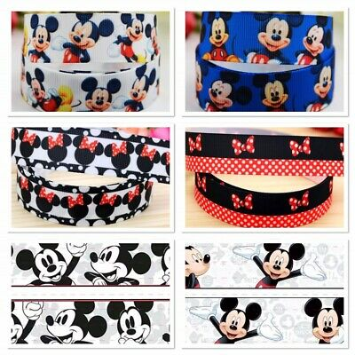Mickey Mouse Minnie Mouse ribbon Disney grosgrain 1m girls boys birthday cake
