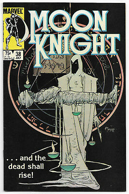 Moon Knight #38 (July 1984, Marvel Comics) Low Print Last Issue Kaluta Cover