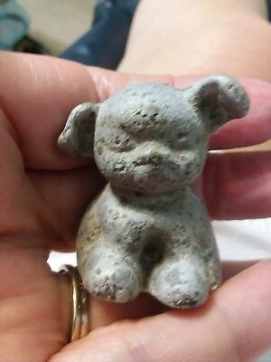 VTG 1920s Cast Iron Fido Pup Dog Mini Paperweight Hubley WADS FDRY C ADVERTISING