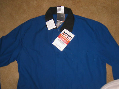 Workrite Lab Coat sz Large Reg FR CP Flame Chemical Resistant NWT 2nd  6G4