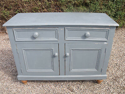 Antique Style Pine  French Shabby Chic Dresser Base Chest Of Drawers