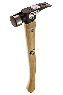 Martinez Tool 4001 19 oz Smooth Face Steel Head Hammer with Curved Handle USA