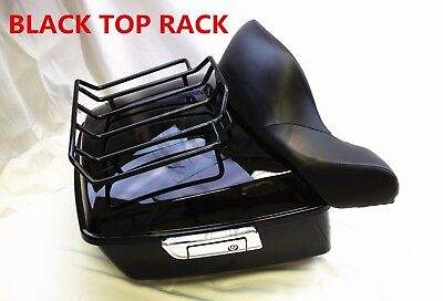 King Tour Pak Pack Trunk black For Harley Touring Street Road Glide 14-19