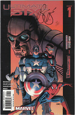'Ultimate Six' Issue 1 Limited Edition Signed Copy by Brian Bendis 42 of 599 EX!