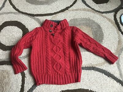 Baby Gap Boys 3T Red Mock Neck Sweater EUC