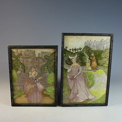 Pair of Vintage STEVENGRAPH Silk Woven Pictures