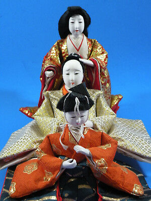 Vintage Hina Doll Collection Made From Wood, Gofun, Plastic and Porcelain