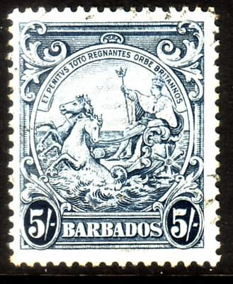 BARBADOS....  1938  5/- badge of colony used