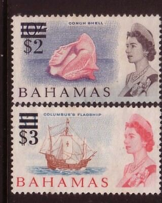 BAHAMAS....  1966 $2 on 10s, $3 on $1 mng